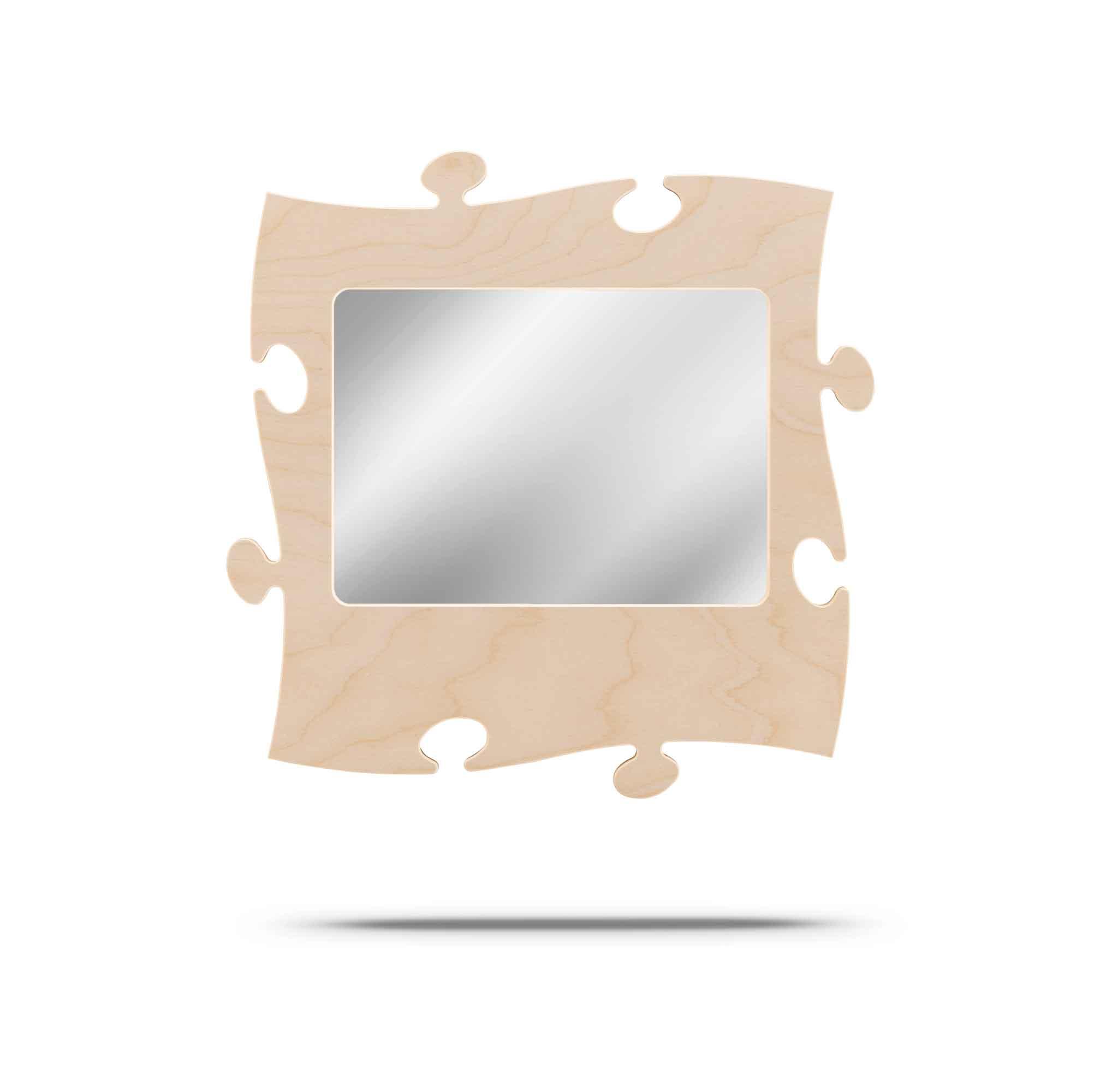 puzzles rahmen mit spiegel 20 x 28 cm country living shop. Black Bedroom Furniture Sets. Home Design Ideas
