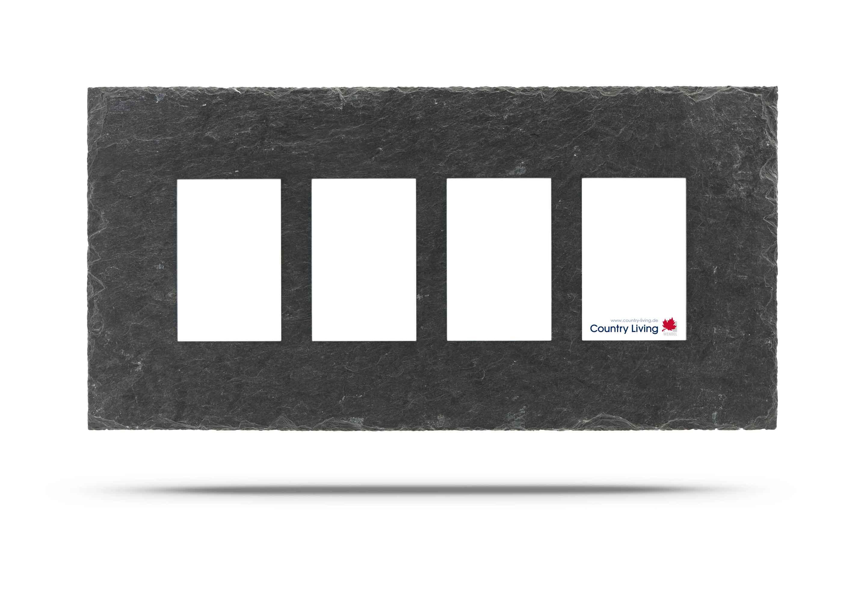 Schiefer Rahmen 4mal 10x15 cm - Country-Living Shop